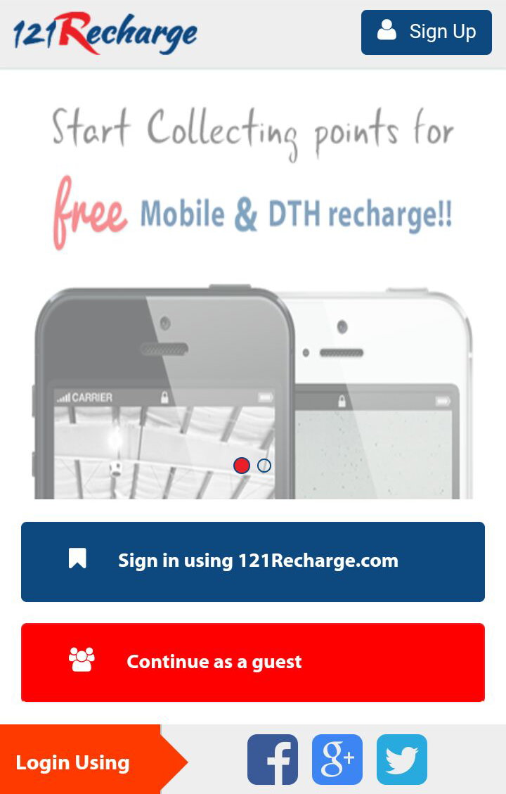 Download 121 Recharge Mobile App